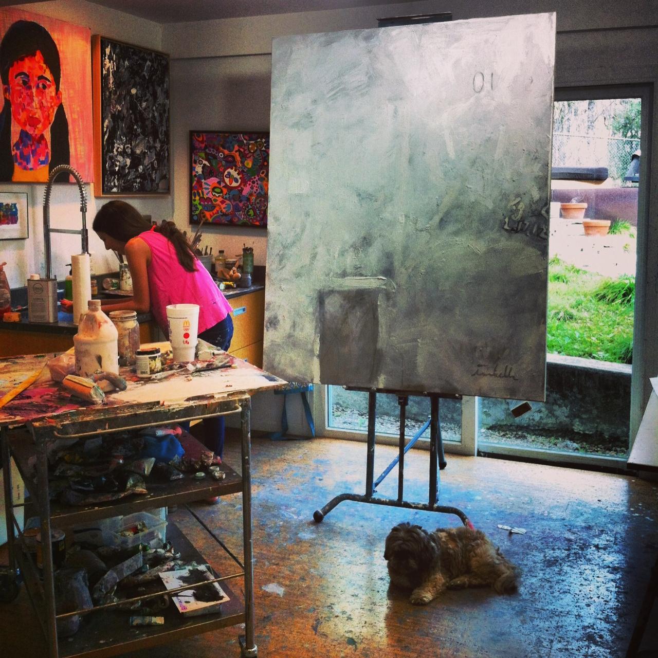 It's what's happening in the art studio today . . . ..